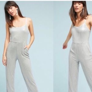 "Anthropologie ""Claudette"" sequined jumpsuit sz 4"